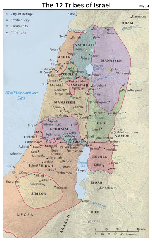 Old Testament Map of Ancient Israel
